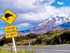 panneau de signalisation de Nouvelle Zélande